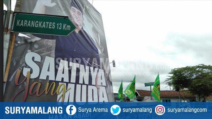 Jelang Pilbup Malang 2020, Banner Foto Rektor Unira Bertebaran di Kecamatan Kepanjen