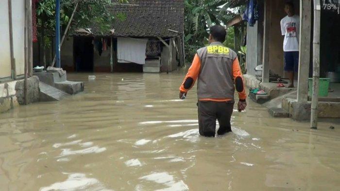 Banjir Luapan Bengawan Solo Di Lamongan Meluas, Kini 9 Desa Di Tiga Kecamatan Terendam Air