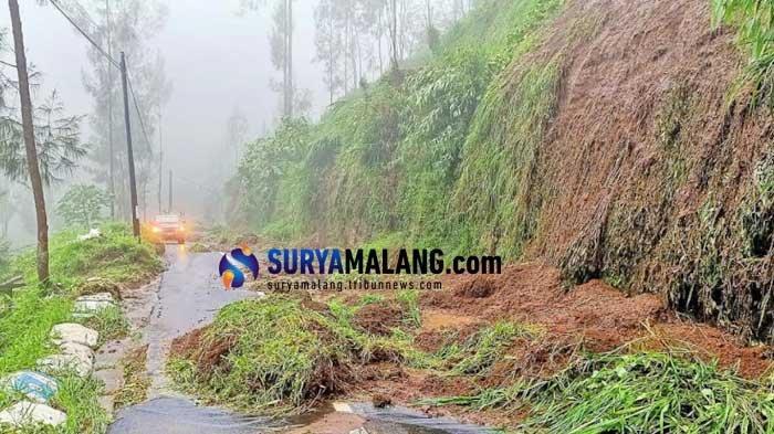 Hujan Deras, Sejumlah Jalan Menuju Gunung Bromo di Tosari Pasuruan Longsor