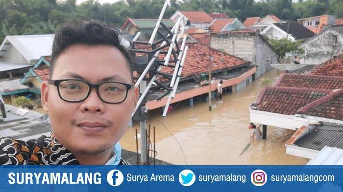 Banjir Terparah di Pamekasan Terjadi di Jalan Amin Jakfar, Luapan Air Sungai Setinggi Atap Rumah