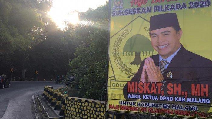 Gambar Wakil Ketua DPRD Kabupaten Malang, Miskat Mulai Bertebaran di Jalanan Kabupaten Malang