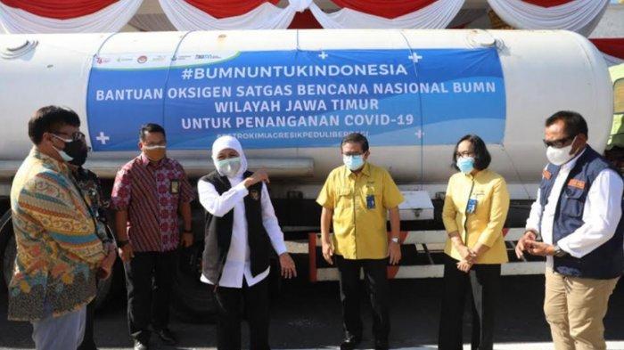 Refill Oksigen Gratis Khusus Warga Isoman, Gubernur Khofifah Bersyukur Banyak Bantuan Berdatangan