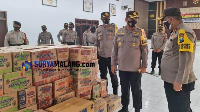 Polres Blitar Kota Galang Dana untuk Bantu Korban Bencana di Sulawesi Barat dan Kalimantan Selatan
