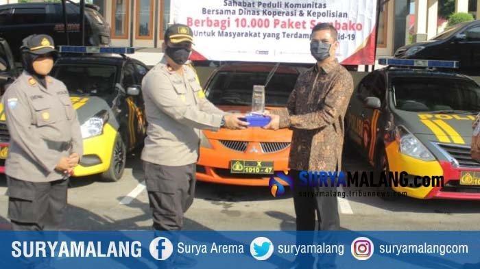 Polres Blitar Kota Dapat Bantuan 200 Paket Sembako untuk Disalurkan ke Warga Terdampak Corona