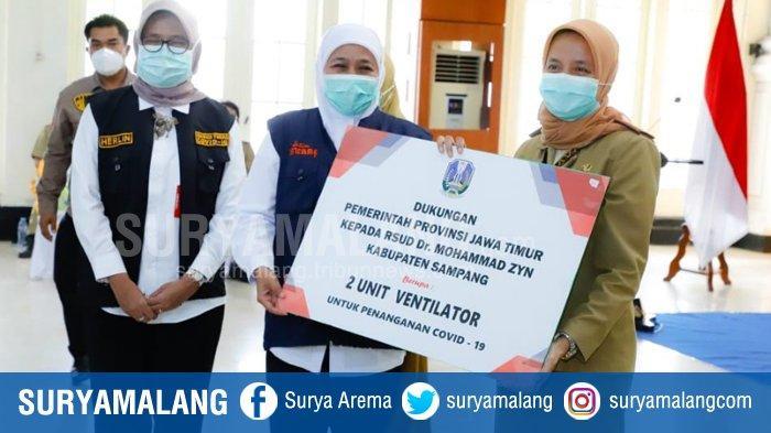 Gubernur Jatim Salurkan Bantuan Ventilator dari Kemenkes ke 3 RS Rujukan Covid-19 di Madura