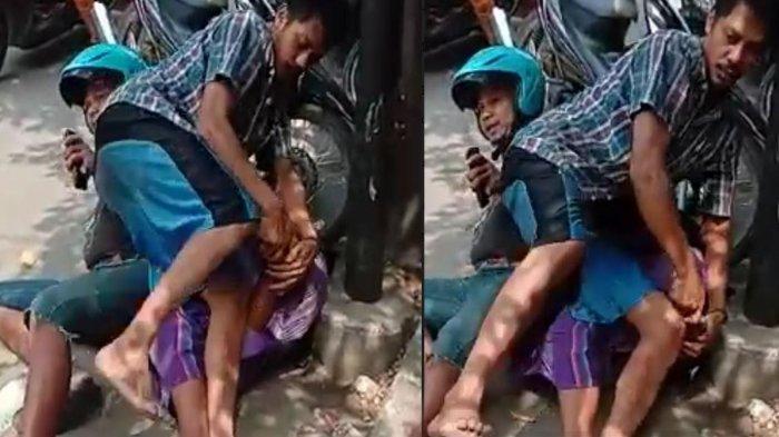 Aksi Heroik Seorang Bapak, Kejar & Ringkus Jambret Kalung Emas Anaknya di Kawasan Pecinan Bangkalan