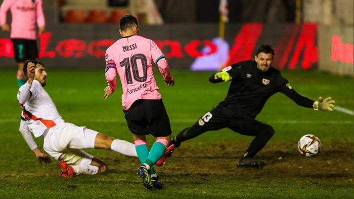 Barcelona Menang Susah Payah dengan Skor 1-2 di Copa Del Rey, Lionel Messi Masih Berperan Besar