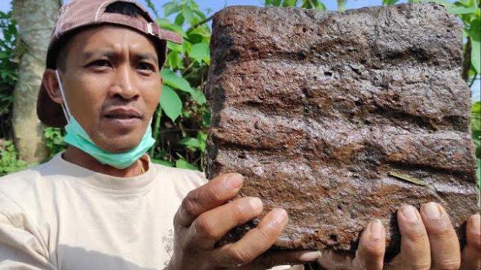Lagi-Lagi Warga Temukan Struktur Bata Kuno Diduga Candi di Blitar, Terpendam di Areal Persawahan