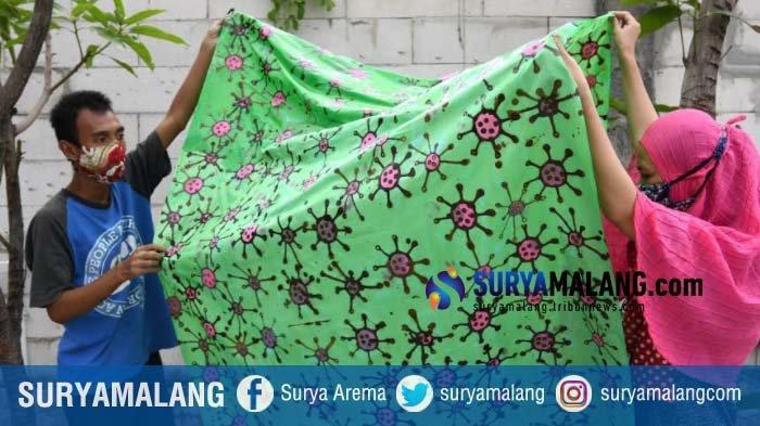 Bersama Penyandang Disabilitas, Batik Wistara Surabaya Buat Kreasi Batik Corona