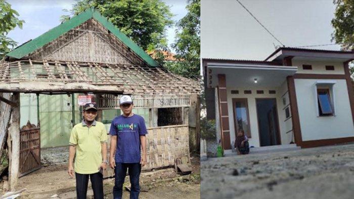 Kala Netizen Bedah Rumah, Komunitas Facebook Kabar Panceng Gresik Pugar Rumah Reot Jadi Rumah Wah