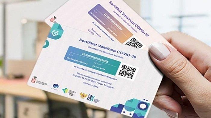 Begini Cara Dapatkan Kartu Vaksin, Wajib Ditunjukkan saat Lakukan Perjalanan, Bisa Dicetak Layak ATM