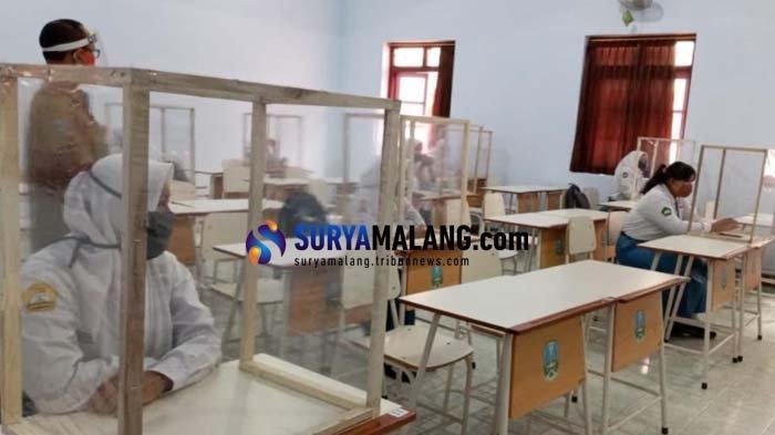 Masuk Zona Merah Corona Lagi, Uji Coba Belajar Tatap Muka Siswa SMA/SMK Kota Blitar Tak Dilanjutkan
