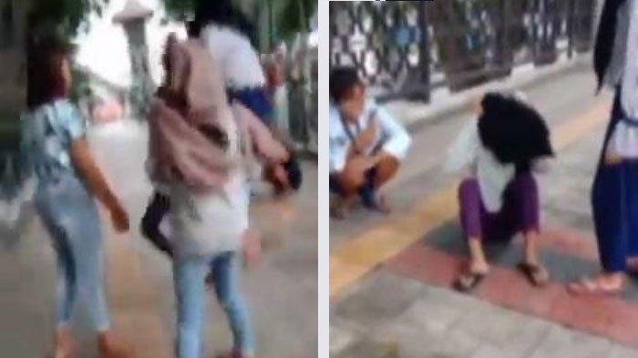 Viral Video Cewek Belia Berkerudung di Gresik Dipukul dan Ditendang, 7 Pelaku yang Masih SMP Diciduk