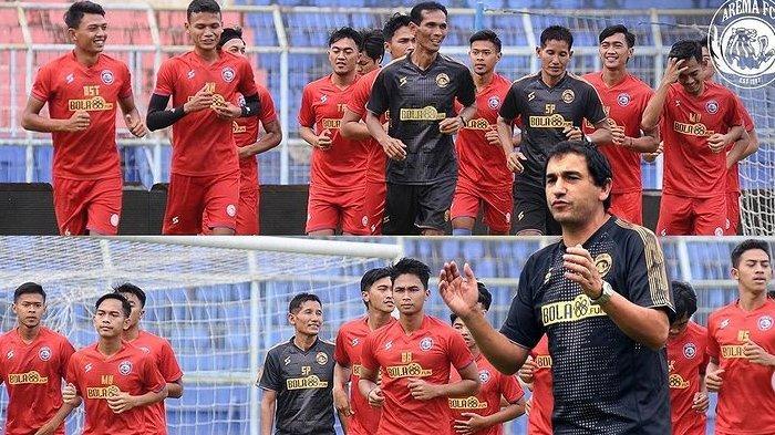 Pemain Arema FC dan Pelatih Eduardo Almeida