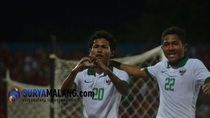 Hasil Skor Timnas U16 Indonesia vs Myanmar Piala AFF U-16 2018 di Babak Pertama adalah 2-0