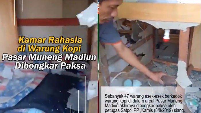 VIDEO Kamar Tempat Prostitusi Berkedok Warung Kopi di Madiun Viral, Mirip Kandang Ayam
