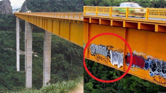 Sempat Bikin Bingung dan Penasaran, Ternyata Cara Pembuatan Grafiti di Jembatan ini Mengerikan
