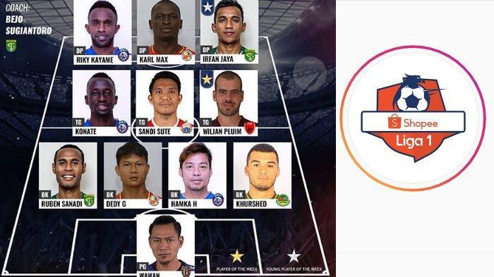 Arema FC Dominasi Best XI Pekan 15 Liga 1 2019, Persebaya Sumbang 2 Sosok Terbaik