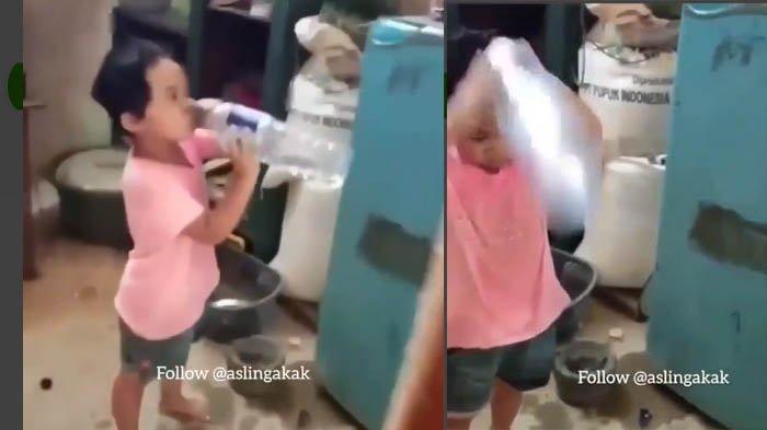 Lihat Kelucuan Anak Ini, Kepergok Minum Saat Puasa, Langsung Siram Air Ke Wajah, Cuci Muka Katanya