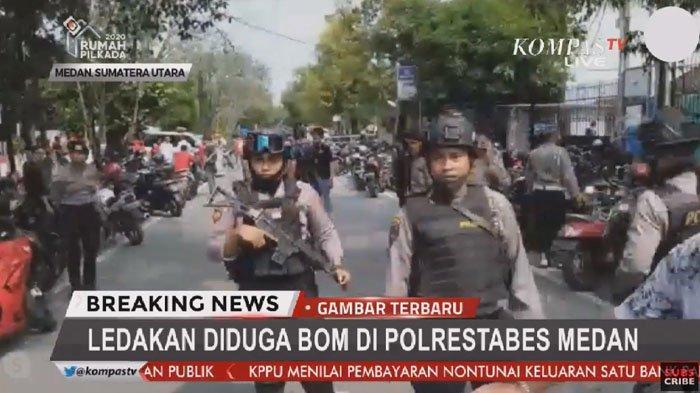 Update Teror Bom Bunuh Diri di Polrestabes Medan 13 November, 1 Tewas & Pelaku Pakai Atribut Ojol