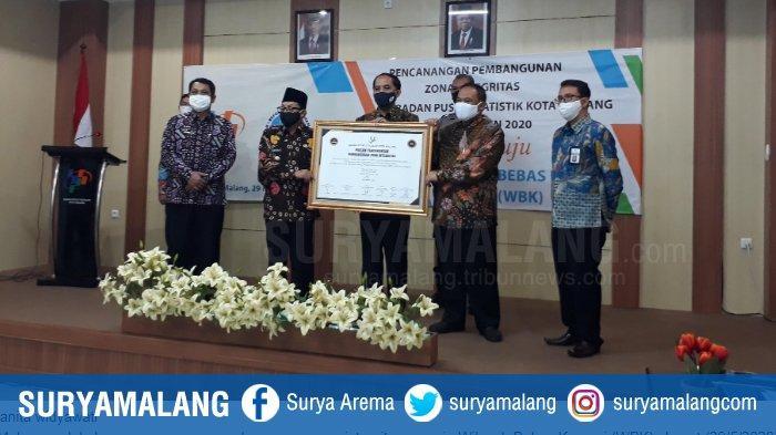 BPS Kota Malang Menuju Wilayah Bebas Korupsi, Wali Kota Malang: Data BPS Itu Sudah WBK
