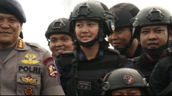 Jadi Satu-satunya Wanita di Tim Penyerbu Teroris Mako Brimob, Foto Briptu Rachel Bikin Hati Meleleh