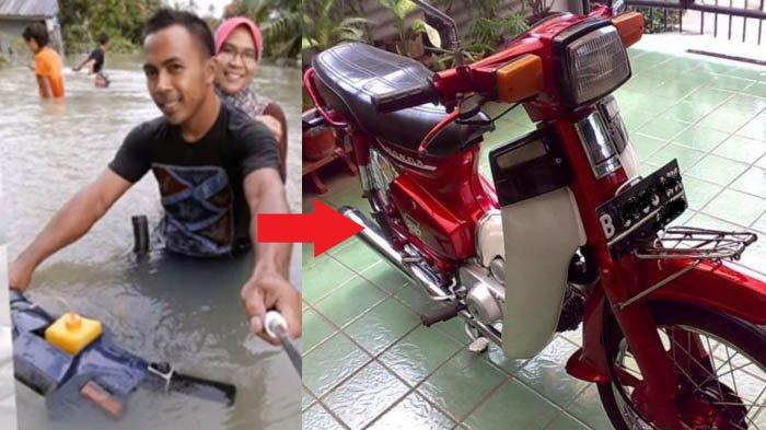 Videonya Jadi Viral, Motor Honda Jadul Begini Taklukkan Banjir! Ternyata Ini Rahasianya