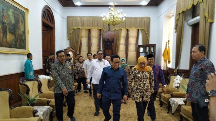 Cak Imin Temui Khofifah Di Grahadi Surabaya, Mereka Membahas Soal Ini