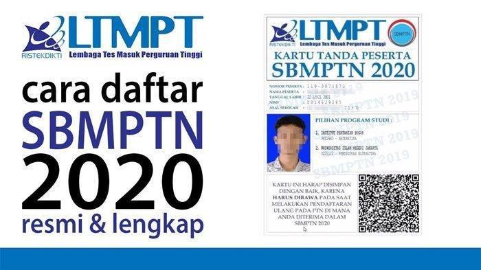 Cara Daftar SBMPTN 2020 di LTMPT.ac.id hingga 5 April 2020 serta Syarat Mengikuti Tes Ini