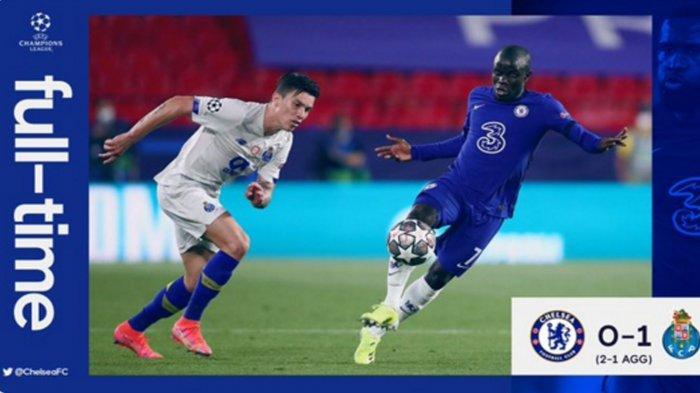 Hasil Liga Champions Chelsea Vs FC Porto 0-1, The Blues Lolos dan Lewati Rekor Manchester United