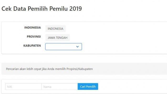 Cara Cek Nama di DPT Pemilu 2019 via HP atau Lewat sidalih3.kpu.go.id, Kalau Tidak Ada Bagaimana?