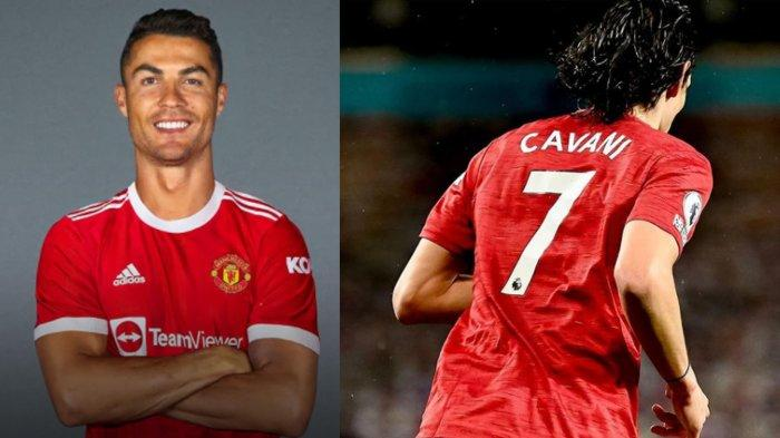 Cristiano Ronaldo Senasib dengan Lionel Messi, Nomor Punggung 7 di Manchester United Milik Cavani