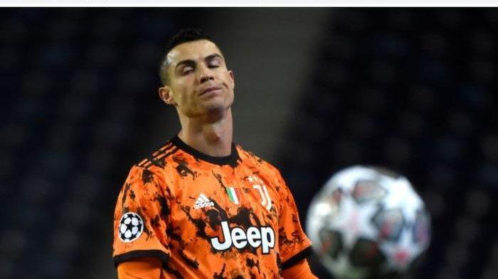 Hasil Liga Champions Juventus Kalah dari Porto, Cristiano Ronaldo Jengkel Tak Dapat Hadiah Penalti