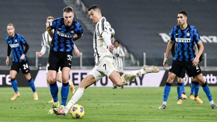 Jari Tengah Conte dan Cristiano Ronaldo Mandul di Laga Juventus Vs Inter Milan Coppa Italia
