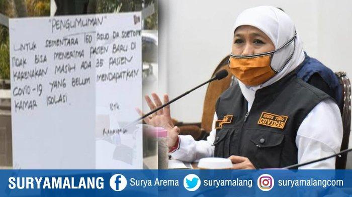 RSUD dr Soetomo Sempat Crowded Pasien Covid-19, Gubernur Jatim Sampaikan Imbauan Pada Pemda