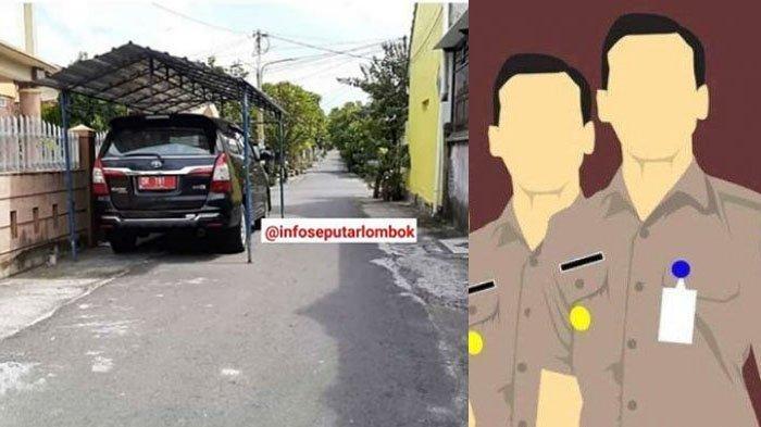 Cuma Pejabat yang Bisa Parkir Mobil di Jalan Sampai Buat Kanopi Viral di FB & IG, Ini Penjelasannya