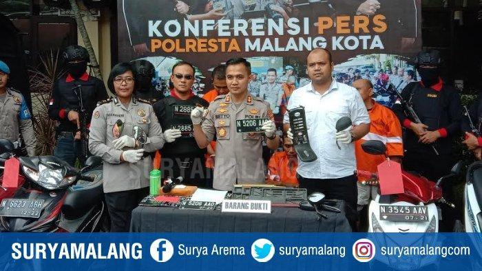 Tim Singo Arema Police Polresta Malang Kota Tangkap 2 Tersangka Curanmor, Ditembak Di Bagian Kaki