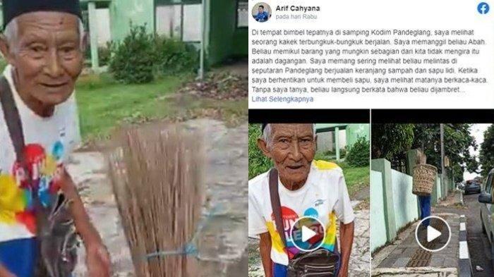 Curhat Kakek Penjual Sapu Lidi Jadi Korban Jambret, Uang Setoran Rp 400 Ribu Raib, Kisahnya Viral