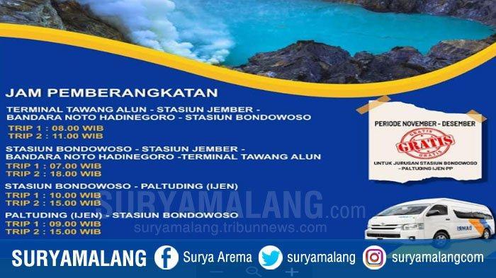 DAMRI Layani Trayek Jember-Bondowoso-Ijen, Dukung Kawasan Strategis Pariwisata Nasional (KSPN)