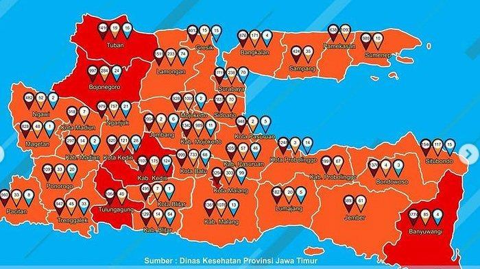 Daftar Zona Merah Jawa Timur Hari Ini Selasa 22 Desember 2020: Kota Malang, Banyuwangi dan Tuban