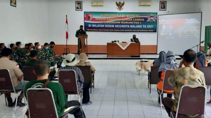 Perkuat Nasionalisme, Kodim 0833/Kota Malang Lakukan Pembinaan Komunitas Masyarakat