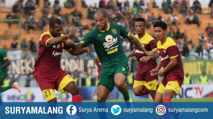 David Da Silva saat membela Persebaya vs Persik Kediri di Piala Gubernur Jatim 2020