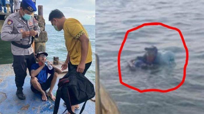 Dedik Purnomo pemuda asal Malang yang menyeberangi lautan dari Kalimantan ke Jawa