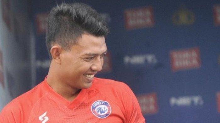 Dedik Setiawan, striker Arema FC.