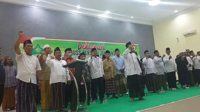 Ratusan Kiai Kampung Di Jombang Deklarasi Baguss Bersatu, Patok 75 Persen Suara Jokowi-Ma'ruf