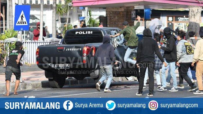 Polisi Tetapkan 22 Tersangka Kasus Kerusuhan Demo Tolak Omnibus Law UU Cipta Kerja di Surabaya