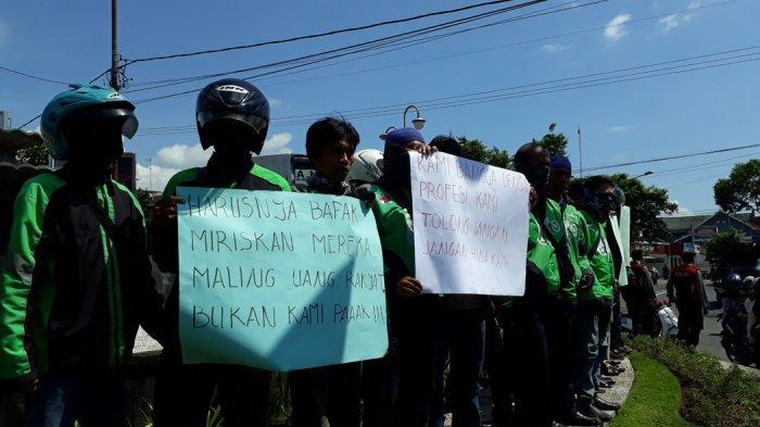 Puluhan Sopir Ojek Online Demo Prabowo, Dinilai Menghina Pekerjaan Ojek