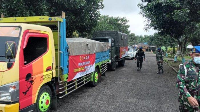 Denpom Divif 2 Kostrad Salurkan Bantuan untuk Korban Bencana Alam di Nganjuk dan Semarang