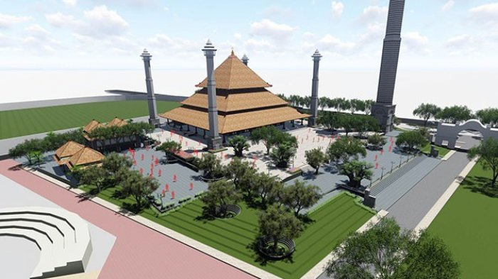 Inilah Masjid dengan Menara Tertinggi di Indonesia, Ada Peran Jokowi di Baliknya