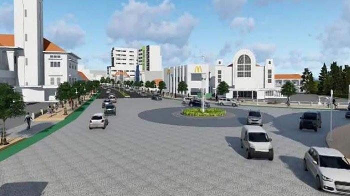 Detail pembangunan koridor Kayutangan Heritage, Kota Malang.